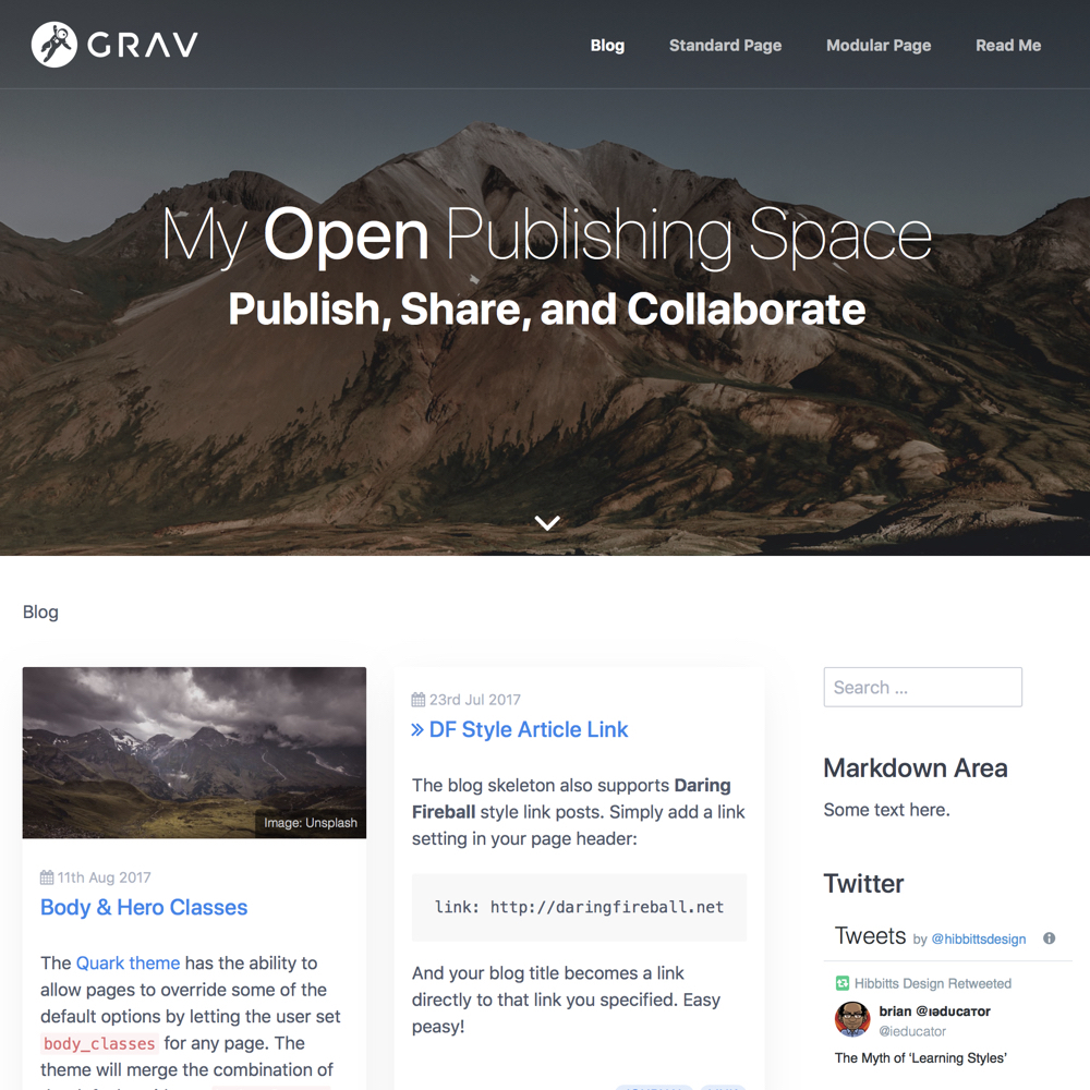 Open Publishing Space Blog List