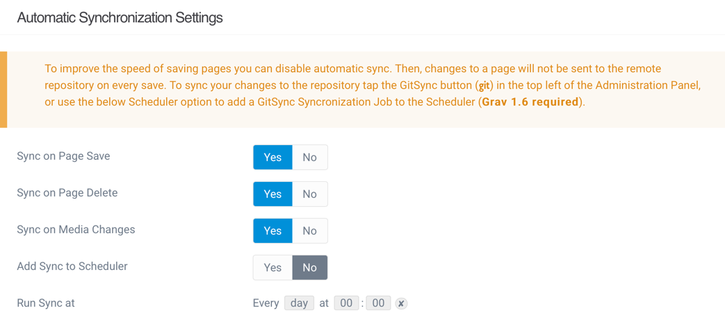 Git Sync 2.0 Auto Sync Settings